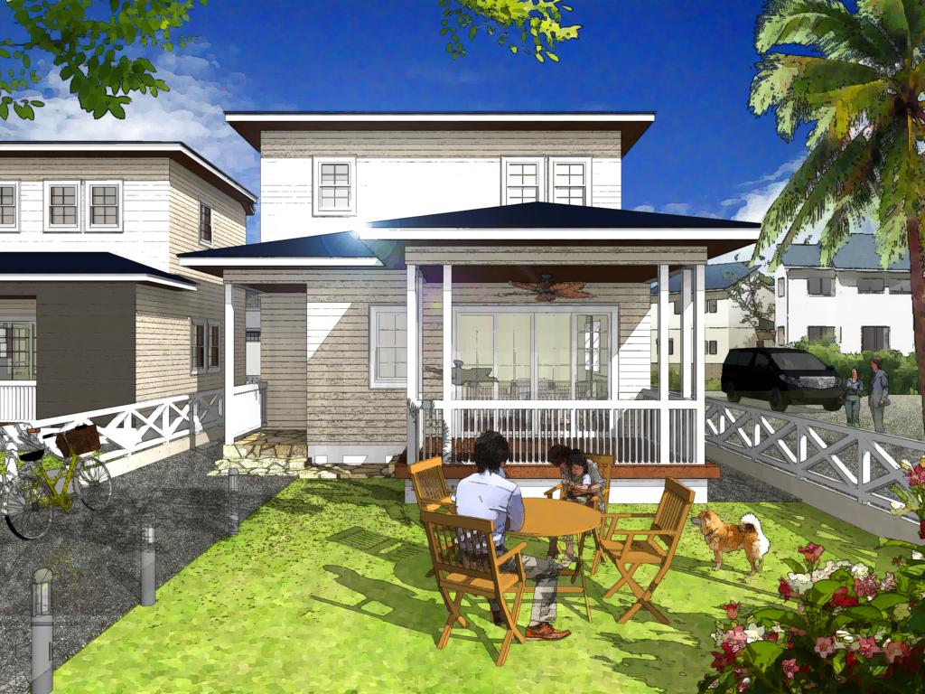 ハワイのように一年を通じて快適な空間で生活できるプランテーションハウスが完成♪